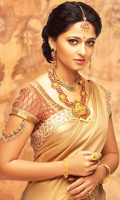Bahubali Actress as a South Indian Bride, from Traditional Indian Bridal Sarees Pictures) @ via Beautiful Girl Indian, Most Beautiful Indian Actress, Beautiful Saree, Indian Bridal Sarees, Indian Beauty Saree, Moda Indiana, Indian Wedding Hairstyles, South Indian Bride, South Indian Actress