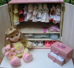 A My Child Doll Closet! LOVE♥ I want one!