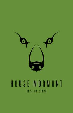 House Mormont Minimalist Poster by Thomas Gateley