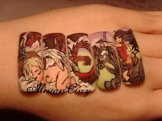 MesiaszCiszy nail art http://www.youtube.com/user/MesiaszCiszy/featured