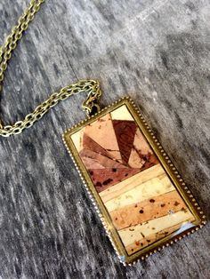 Recycled wine cork mosaic necklace by ZonaShermanDesigns on Etsy