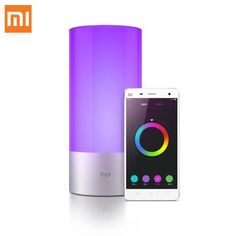 Cool Original Xiaomi Yeelight Indoor Night Light Dimmable Bed Lamp 16 Million RGB Touch Control