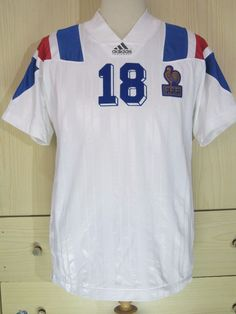 ERIC CANTONA FRANCE EURO 1992 1993 AWAY ADIDAS FOOTBALL SHIRT SOCCER JERSEY S | eBay