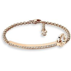 Piaget Possession Diamond & 18K Rose Gold Bracelet (19,685 SAR) ❤ liked on Polyvore featuring jewelry, bracelets, apparel & accessories, rose gold, diamond jewellery, 18 karat gold jewelry, 18k jewelry, diamond bangles and diamond fine jewelry