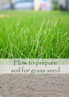 HOW TO PREPARE SOIL