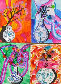 In the Art Room: Ming Vase Still Life with Third Grade