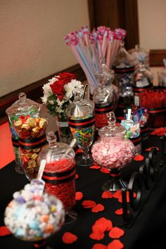 The Reception on itsabrideslife.com/Real Weddings/Real Brides/Black and Red Wedding