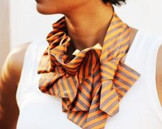 Amazing vintage tie transformation!  Don't you love this!?  ~ Upcycled Silk Ties by Lilian Asterfield ~