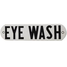 "1stdibs - 1950's Porcelain Sign "" Eye Wash "" explore items from 1,700  global dealers at 1stdibs.com"