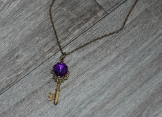Mystic by CognitiveByCatterall on Etsy Metal Necklaces, Mixed Metals, Gothic Fashion, Necklace Lengths, Etsy Store, Mystic, Key, Pendant Necklace, Handmade