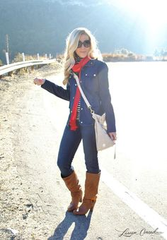 adorable fall outfit #boots