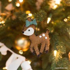 Make a Felt Deer Gift Topper or Ornament - Lia Griffith