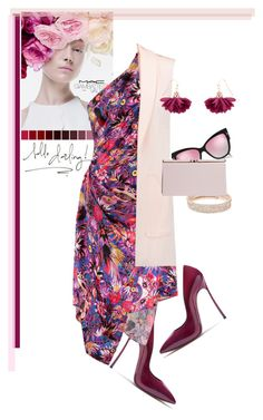 """""""One Shoulder Dress"""" by judysingley-polyvore ❤ liked on Polyvore featuring Casadei, M.A.C, Matthew Williamson, Rebecca Minkoff, Accessorize, Anne Klein, Boohoo and dress"""