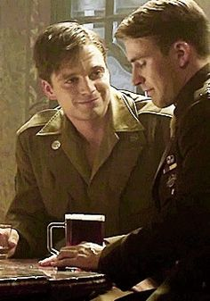 If you're telling me that Bucky doesn't look at Steve as if he's the only thing in the world for him, then you need to bloody open your eyes