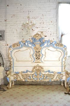 Painted Cottage Shabby French Romantic Queen / King Bed BD22