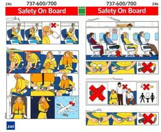 I like this in flight safety card as it has a simple layout and I think if I changed the images and the type but keep the layout that it would work really effectively in the year book Understanding Comics, Hawaiian Airlines, Safety Instructions, Eyfs, Estilo Retro, American Idol, Experiential, Pranks, Digital Illustration