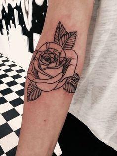 Imagem de tattoo, rose, and flowers More
