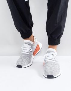 size 40 ee7a5 2e489 adidas Originals NMD R2 Primeknit Trainers In White BY9410