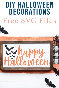 Create a custom Halloween Sign or Shirt with this FREE SVG File from Everyday Party Magazine #HalloweenSign #HalloweenSVG #FreeCutFiles #SVG