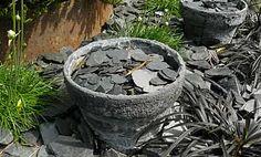 Du béton sur pots et jardinières --> pour faire des pots résistants au gel, à colorer avec les couleurs que l'on veut