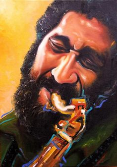 ''Sonny Rollins'' - técnica: óleo s/ canvas - ano: 2011 - 35,0 X 48,0 - autor: VIANNO RHEIM