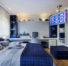 Affordable Bedroom Decor Ideas For Your Little Boys Excellent Teenage Boy Room Décor Ideas For You<br> Understanding the psyche of a teenage kid is the biggest challenge all parents face when it comes to decorating a … Teen Boy Rooms, Teenage Room, Teenage Guys, Boy Teen Room Ideas, Rooms For Boys, Bedroom Ideas For Teen Boys, Teenage Boy Bedrooms, Teen Boys Room Decor, Kids Room