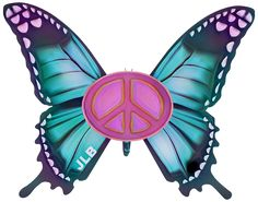 ☮Butterfly/JLB Peace Sign Tattoos, Never See You Again, Give Peace A Chance, Peace Signs, Trippy, Peace And Love, Butterflies, Wings, Heaven