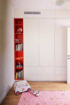 Kids room closet and toy storage combo Wardrobe Design Bedroom, Kids Wardrobe, Closet Bedroom, Kids Bedroom, Room Kids, Bedroom Cupboards, Cupboard Design, Kids Room Design, Baby Boy Rooms
