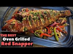 Whole Red Snapper Recipes, Whole Fish Recipes, Grilled Fish Recipes, Baked Salmon Recipes, Tilapia Recipes, Grilled Salmon, Seafood Recipes, Keto Recipes, Red Snapper Baked