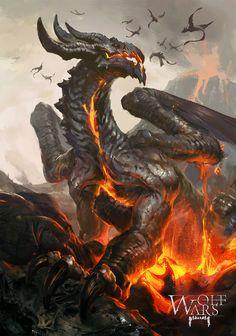 MZLoweRPP verified link on 6/20/2016 Source: rawwad.deviantART.com Artist: Tibor Bedats Artist's Title: Fire Dragon
