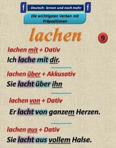 German grammar - Lachen