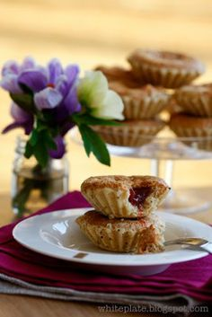 White Plate: Almond Muffins, 1930