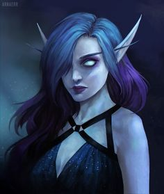 Could be like my WOW character, but with white hair and pale green eyes. And less makeup, and probably a different dress.