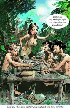 Outraged at Concept of Man Relating to Apes but Totally Fine With Humanity Founding on Incest & Child Abuse | Do as we say, not as we do. The motto of bible nuts everywhere. | #Evolution Adam & Eve & Cain & Eve & Abel & Eve... #Atheist #AdamAndEve