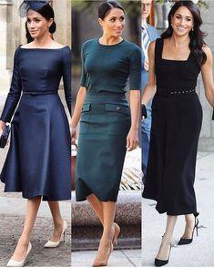 Meghan Markle Style – Best Looks of Her! Meghan Markle Stil, Meghan Markle Dress, Meghan Markle Outfits, Kate And Meghan, Princess Meghan, Royal Dresses, Royal Fashion, African Dress, African Fashion