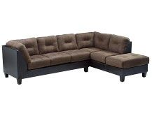 Raymond Collection - Walnut Right Arm Chaise Sectl