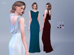 Beautifully crafted from satin, this dress features an elegant cowl back, and a chic boat neck. This floor length gown exudes timeless glamour and is guaranteed to turn heads.  Found in TSR...