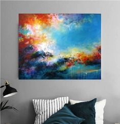 Original art for sale. Abstract painting. Acrylic on canvases.