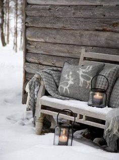 Cozy winter cottage