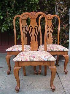 San Francisco: Refurbish 3 beautiful dining chairs $90 - http://furnishlyst.com/listings/920049