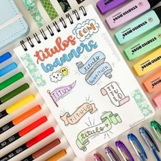 Travel US with me Bullet Journal School, Bullet Journal Fonts, Bullet Journal Headers, Bullet Journal Banner, Bullet Journals, Pretty Notes, Good Notes, Lettering Tutorial, Stabilo Boss