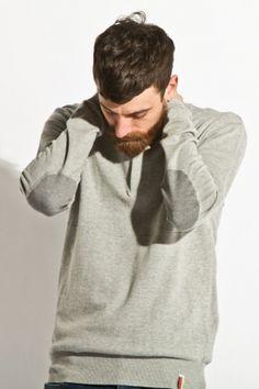 slvdr - men's downing sweater (grey)    http://www.80spurple.com/shop/product/141725/5250/slvdr-men-s-downing-sweater-grey