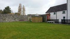 Walled garden at galway glamping