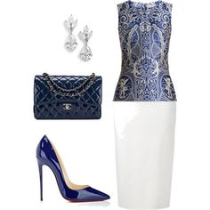 A fashion look from June 2017 featuring Mary Katrantzou tops, Roland Mouret skirts and Christian Louboutin pumps. Browse and shop related looks.
