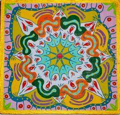 Mandala III. Acrílico sobre tabla  19x18cm  25€