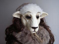 Sheep mask Paper mache mask Masquerade mask Sheep by EpicFantasy