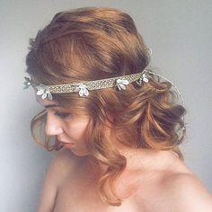 New Year Gold Shimmery Headband  -  Christmas Art Deco Gatsby Party - Sparkle Gold New Eve Headband