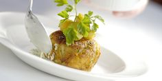 Black Pudding Recipe, Cheese Hash Browns & Pear - Great British Chefs