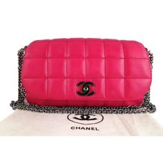 Chanel Hot Pink Lambskin 10inch Medium 2.55 Classic Flap Bag http://www.perfect-gift-store.com/best-pink-evening-bags.html