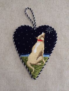 Midnight Heart Ornament  ~ Canvas by Kirk&Bradley